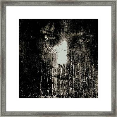 Nights Eyes Black And White Framed Print by Marian Voicu