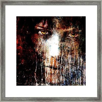 Night Eyes Framed Print by Marian Voicu