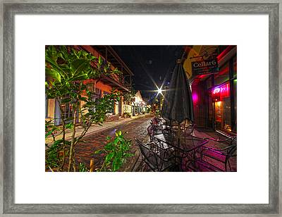 Nights In Oldtown Framed Print