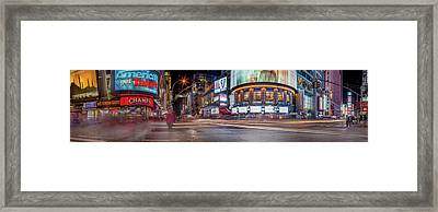 Framed Print featuring the photograph Nights On Broadway by Az Jackson