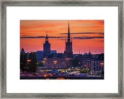 Nightsky Over Stockholm Framed Print