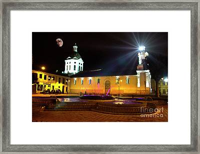 Framed Print featuring the photograph Nighttime At San Sebastian by Al Bourassa