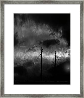 Nighttime On The Docks Framed Print by Bob Orsillo