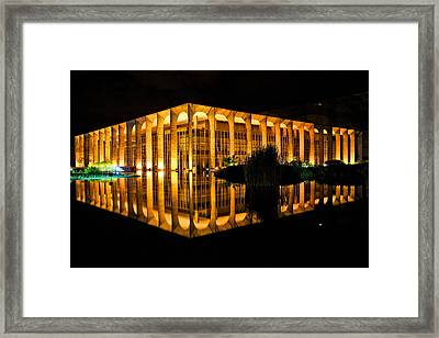 Framed Print featuring the photograph Nighttime Reflections by Kim Wilson