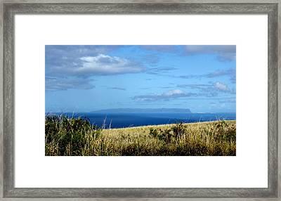 Niihau Island Framed Print by Annie Babineau