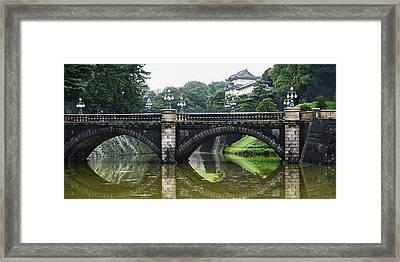 Nijubashi Bridge At Imperial Palace Framed Print by Keith Levit