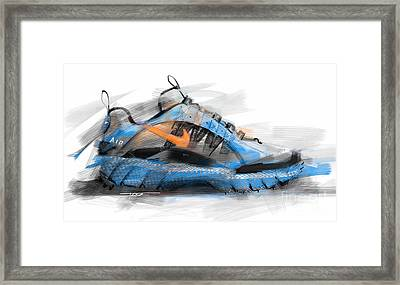 Nike Air Humara Framed Print by Peter Fogg