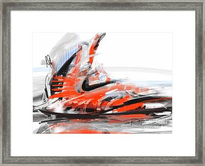 Nike Basketball Framed Print by Peter Fogg