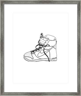 Nike Dunk 001 Framed Print