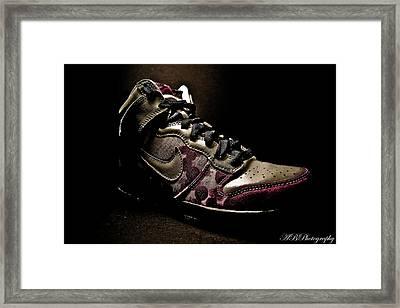 Nike Dunks Framed Print by Allison Badely