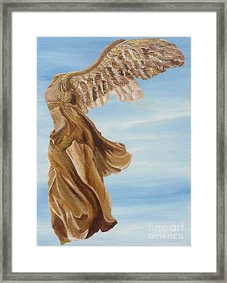 Nike Goddess Of Victory Framed Print by Ashley Baldwin