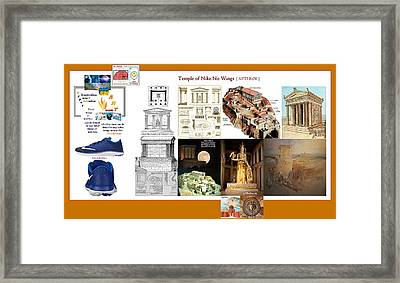 Nike No Wings Framed Print by Peter Hedding