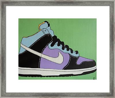 Nike Shoe Framed Print by Grant  Swinney
