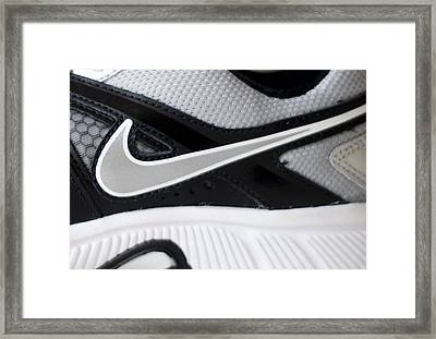 Nike Shoe Framed Print by Malania Hammer