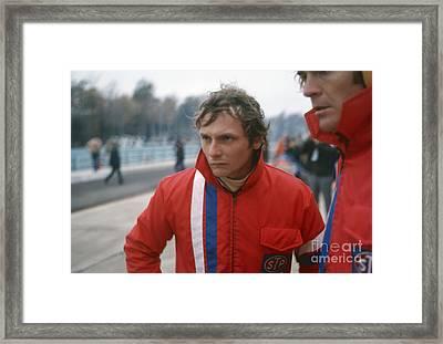 Niki Lauda. 1972 United States Grand Prix Framed Print by Oleg Konin