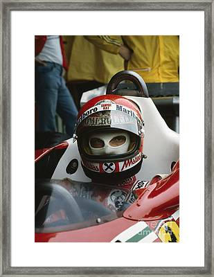 Niki Lauda. 1977 Austrian Grand Prix Framed Print