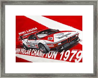 Niki Lauda Bmw M1 Procar  Framed Print by Daniel Senkerik
