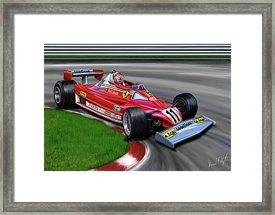 Niki Lauda F-1 Ferrari Framed Print by David Kyte