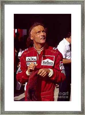Niki Lauda. Marlboro Mclaren International Framed Print