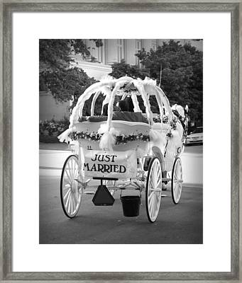Nikki And Kris Just Married Framed Print by James Granberry