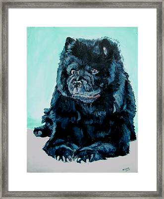 Framed Print featuring the painting Nikki The Chow by Bryan Bustard