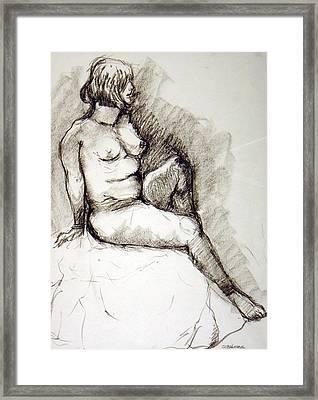 Nikki Framed Print by Ujjagar Singh Wassan