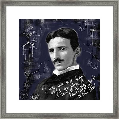 Nikola Framed Print