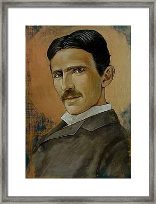 Nikola Tesla Framed Print by Jovana Kolic