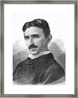 Nikola Tesla, Serb-us Physicist Framed Print by