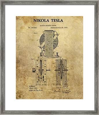 Nikola Tesla's Electro Magnetic Motor Framed Print by Dan Sproul