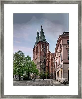 Nikolai Church In Berlin Framed Print
