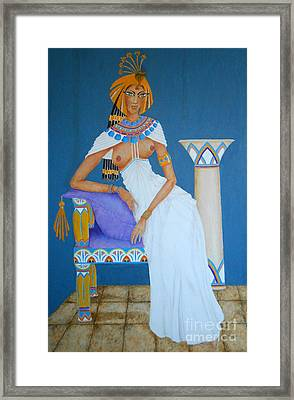 Nile Nymph -- Cleopatra, #1 In Famous Flirts Series Framed Print