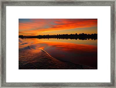 Nile Sunset Framed Print