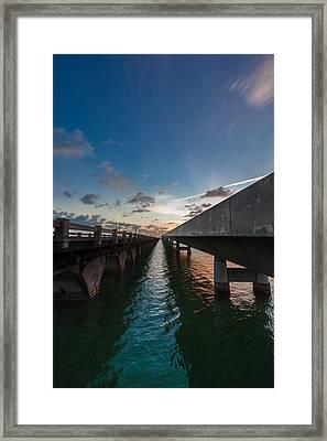 Niles Summer Sunset Framed Print