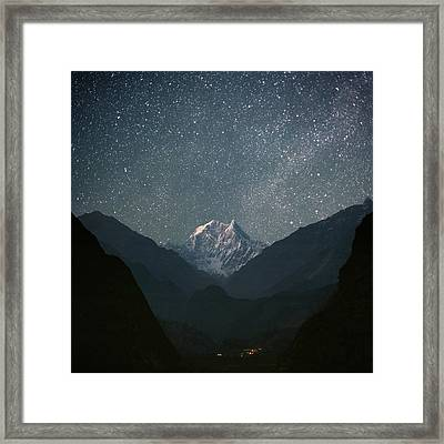 Nilgiri South (6839 M) Framed Print by Anton Jankovoy