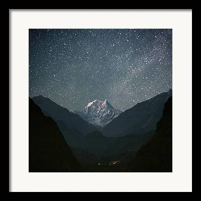 Night Landscape Framed Prints