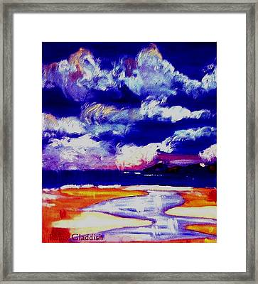 Nimbus Clouds Over Mumbles Framed Print by Rusty Gladdish