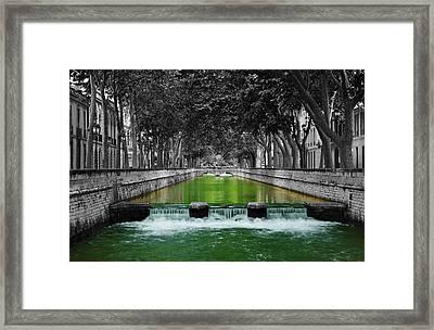 Nimes Boulevard Framed Print