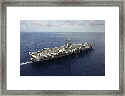 Nimitz-class Aircraft Carrier Uss Framed Print
