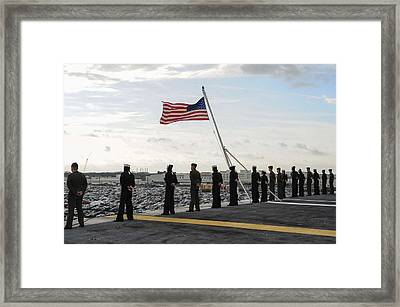 Nimitz-class Aircraft Carrier Uss Theodore Roosevelt  Framed Print by Celestial Images