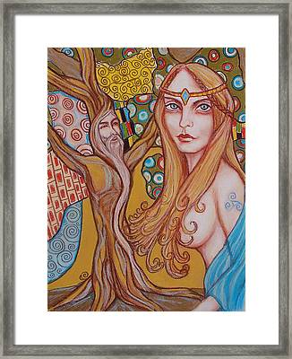 Nimue And Merlin Framed Print by Tammy Mae Moon