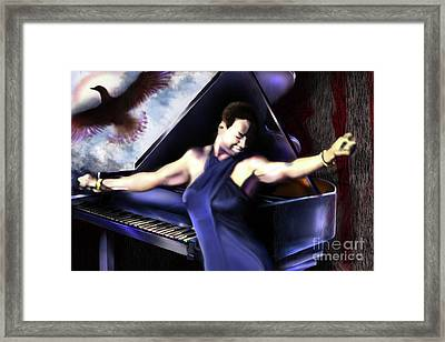 Nina - Feeling Good - Birds Flying High You Know How I Feel  Framed Print by Reggie Duffie