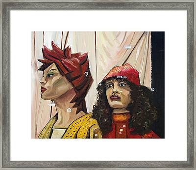 Framed Print featuring the painting Nina And Star by Patricia Arroyo