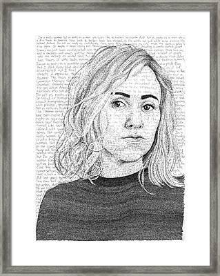 Nina Donovan In Her Own Words Framed Print by Phil Vance