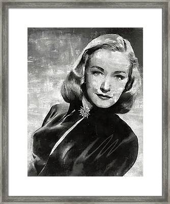 Nina Foch Hollywood Actress Framed Print