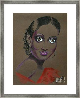 Nina Mae -- African-american Actress Portrait Framed Print