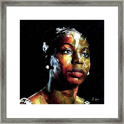 Nina Simone American Singer Framed Print