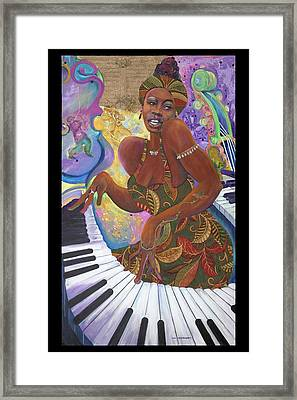 Nina Simone Framed Print by Lee Ransaw