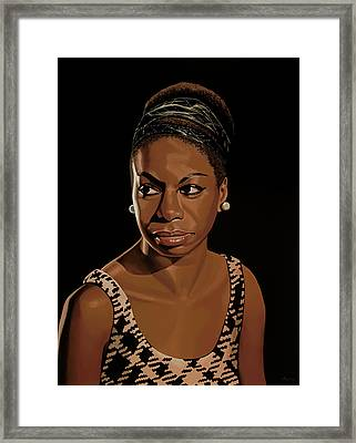 Nina Simone Painting 2 Framed Print by Paul Meijering