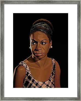 Nina Simone Painting 2 Framed Print